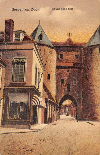 Ansichtkaart Bergen op Zoom Gevangenpoort 1922 HC28424