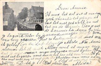 Ansichtkaart Delft 1899 Voldersgracht Kleinrondstempel Kampen HC28502