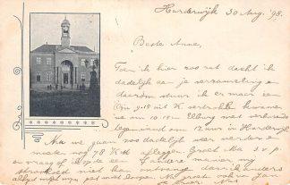 Ansichtkaart Harderwijk 1898 Stadhuis Kleinrondstempel 1898 HC28515