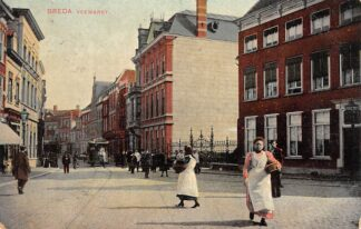 Ansichtkaart Breda Veemarkt met Paardentram Tram 1907 HC28553