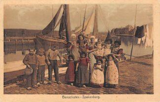 Ansichtkaart Bunschoten Spakenburg Vissers gezin aan de Haven Klederdracht HC28556