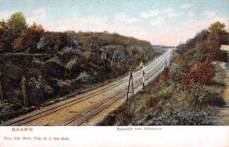 Ansichtkaart Baarn Spoorlijn naar Hilversum 1900 Spoorwegen HC28582