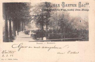 Ansichtkaart Boskoop Biezen Kleinrondstempel Kantens 1902 Reclame W. van Santen Jaczn. Rijswijksche Weg nabij Den Haag HC28677