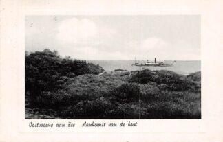 Ansichtkaart Oostvoorne aan Zee Aankomst van de boot 1938 Scheepvaart Schepen HC28715
