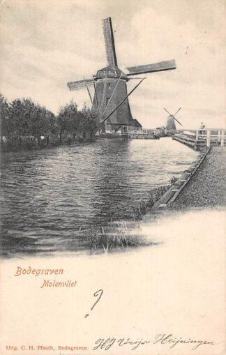 Ansichtkaart Bodegraven Molenvliet Twee molens 1905 Molen HC28740