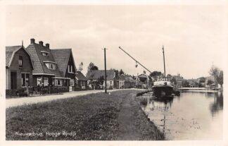 Ansichtkaart Nieuwerbrug aan de Rijn Hooge Rijndijk Fotokaart Binnenvaart schepen Scheepvaart Bodegraven Woerden HC28743