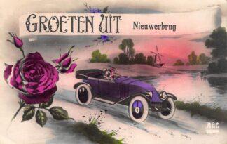 Ansichtkaart Nieuwerbrug aan de Rijn Groeten uit 1930 Woerden Bodegraven HC28746