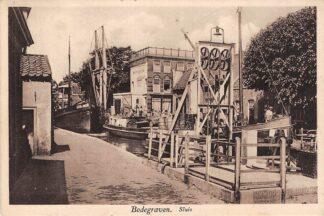 Ansichtkaart Bodegraven Sluis 1934 Binnenvaart schepen Scheepvaart HC28750