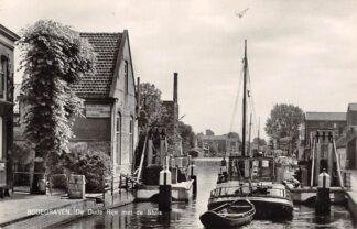 Ansichtkaart Bodegraven De Oude Rijn met de Sluis 1965 Binnen vaart schepen Scheepvaart HC28805