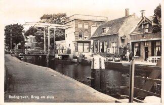 Ansichtkaart Bodegraven Brug en Sluis 1947 HC28807