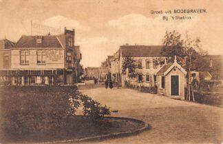 Ansichtkaart Bodegraven Bij 't Station Café Restaurant 1925 Nauta A 464 HC28808