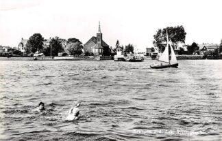 Ansichtkaart Krimpen aan de Lek Riviergezicht met Veerpont en Ned. Hervormde Kerk HC28817