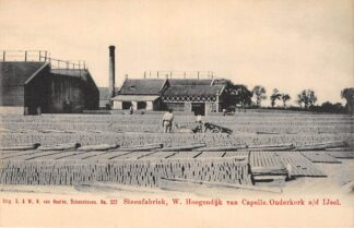 Ansichtkaart Ouderkerk aan den IJssel Steenfabriek W. Hoogendijk van Capelle Van Nooten No. 322 HC28836