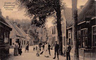 Ansichtkaart Nieuwerbrug aan de Rijn Bodegraafsche Straatweg 1900 Woerden Bodegraven HC28912