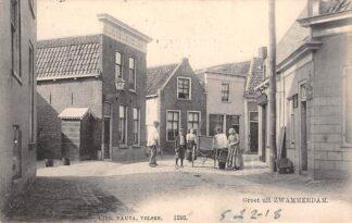 Ansichtkaart Zwammerdam Groet uit 1904 Bakker met kar Nauta 1293 Bodegraven HC28915