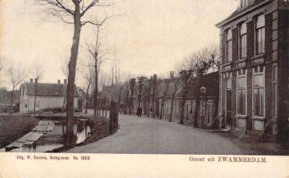 Ansichtkaart Zwammerdam Dorpsgezicht begin 1900 Bodegraven HC28916