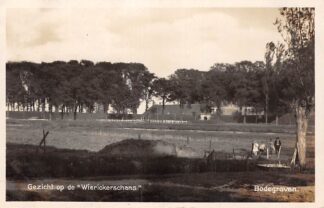 Ansichtkaart Bodegraven Gezicht op de Wierickerschans 1929 Militair Nieuwerbrug aan de Rijn HC28931