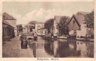 Ansichtkaart Bodegraven Rijnkade met sluis 1930 HC28936