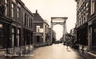 Ansichtkaart Bodegraven Brugstraat Hotel Garage ANWB Newo fotokaart HC28947