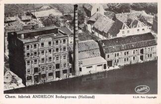 Ansichtkaart Bodegraven Chem. Fabriek Andrelon KLM Luchtfoto 24041 1950 HC28969