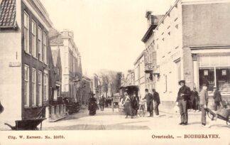 Ansichtkaart Bodegraven Overtocht 1900 met volk HC28978