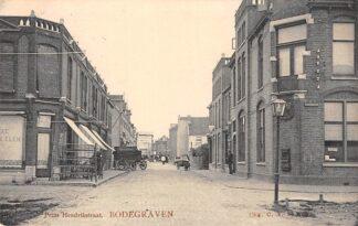 Ansichtkaart Bodegraven Prins Hendrikstraat hoek Willemstraat met Postkantoor 1911 HC28990