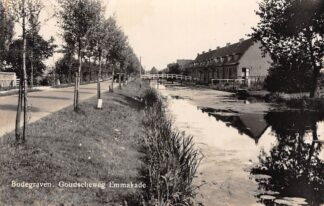Ansichtkaart Bodegraven Goudscheweg en Emmakade Fotokaart Newo 1940 HC29009