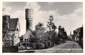Ansichtkaart Bodegraven Buitenkerk met watertoren 1956 HC29021