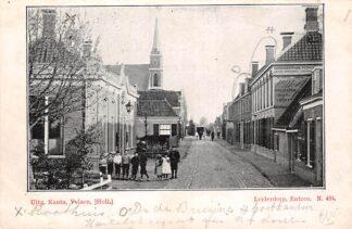 Ansichtkaart Leiderdorp Entree Kleinrondstempel 1902 Nauta N. 484 HC29084