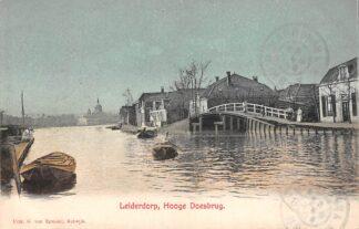 Ansichtkaart Leiderdorp Hooge Doesbrug 1906 HC29109