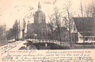 Ansichtkaart Zoeterwoude Gezicht op Zoeterwoude Nauta N. 393 Kleinrondstempel 1902 1902 HC29112