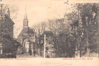 Ansichtkaart Leiderdorp Brug o.d. Rijn Nauta N. 451 Kleinrondstempel 1902 HC29113