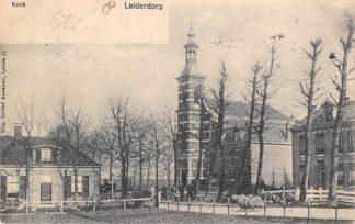 Ansichtkaart Leiderdorp Gereformeerde Kerk Kleinrondstempel 1903 HC29116