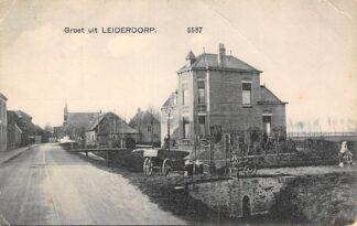 Ansichtkaart Leiderdorp Groet uit 1918 Nauta 5587 HC29117