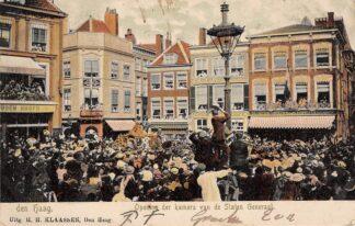 Ansichtkaart 's-Gravenhage Den Haag Opening der kamers van de Staten Generaal 1904 HC29137