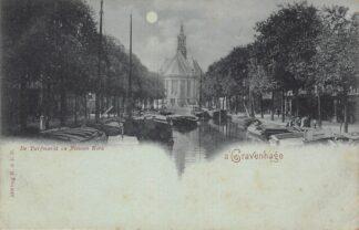 Ansichtkaart 's-Gravenhage De Turfmarkt en Nieuwe Kerk HC29175