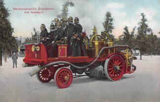 Ansichtkaart Amsterdam Amsterdamsche Brandweer Auto Stoomspuit HC29256