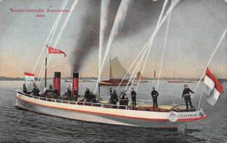 Ansichtkaart Amsterdam Amsterdamsche Brandweer Blusboot Jason HC29257