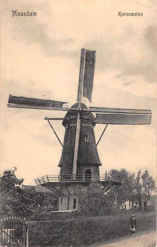Ansichtkaart Maasdam Korenmolen Hoeksche Waard Molen HC29266