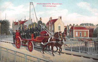 Ansichtkaart Amsterdam Amsterdamsche Brandweer Gereedschapswagen met paarden HC29278