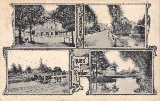 Ansichtkaart Duitsland Ruhland Gruss aus Deutschland Europa Achterzijde: Reclame Boord- Koek- en Beschuitfabriek Ceres Leiden Deutschland Europa HC29285