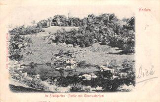 Ansichtkaart Duitsland Aaachen Im Stadtgarten Partie mit Observatorium 1903 Deutschland Europa HC29291