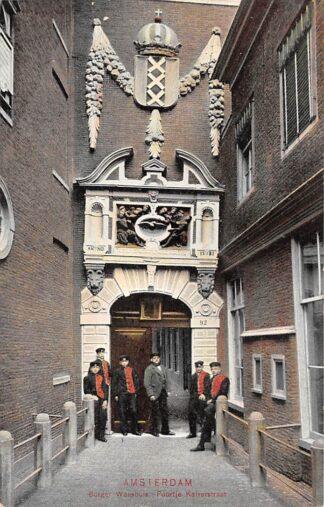Ansichtkaart Amsterdam Burger Weeshuis Poortje Kalverstraat Kind HC29295