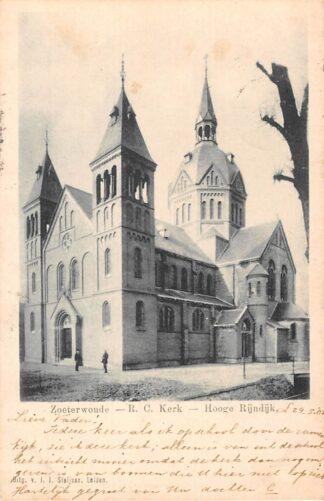 Ansichtkaart Zoeterwoude R.C. Kerk Hooge Rijndijk Kleinrondstempel 1901 HC29298