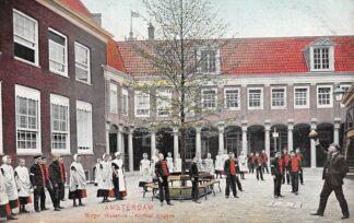 Ansichtkaart Amsterdam Burger Weeshuis Korfbal jongens Kind Sport HC29307