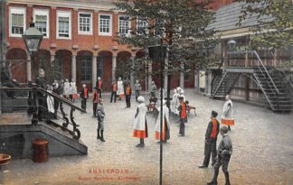 Ansichtkaart Amsterdam Burger Weeshuis Korfbalspel Sport Kind HC29308