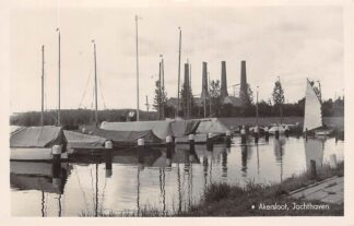 Ansichtkaart Akersloot Jachthaven met schepen Fabriek 1944 Castricum HC29326