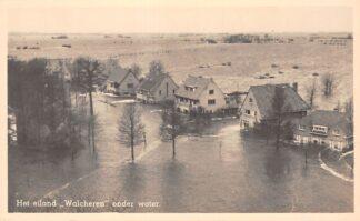Ansichtkaart Het eiland Walcheren onder water 1946 Zeeland Middelburg HC29372