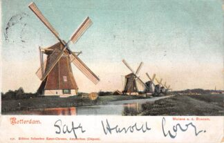 Ansichtkaart Rotterdam Molens a.d. Boezem 1906 HC29418