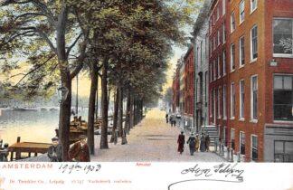 Ansichtkaart Amsterdam Amstel hoek Heerengracht 1903 HC29579